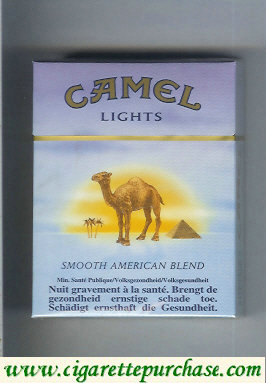 Camel with sun Smooth American Blend Lights cigarettes king size hard box