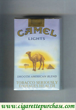 Camel with sun Smooth American Blend Lights cigarettes soft box