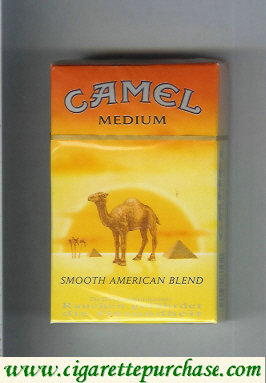 Camel with sun Smooth American Blend Medium cigarettes hard box