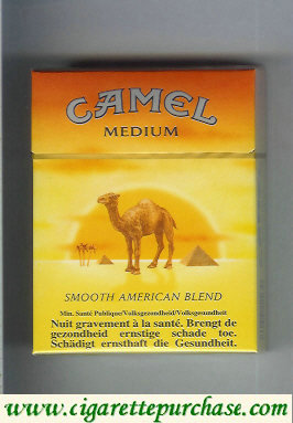 Camel with sun Smooth American Blend Medium cigarettes king size hard box