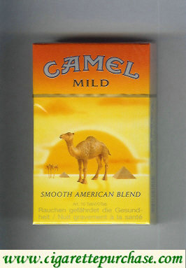 Camel with sun Smooth American Blend Mild cigarettes hard box