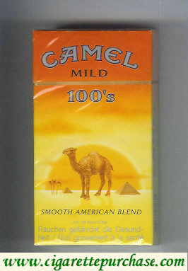 Discount Camel with sun Smooth American Blend Mild 100s cigarettes long size hard box