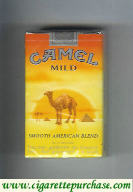 Camel with sun Smooth American Blend Mild cigarettes soft box