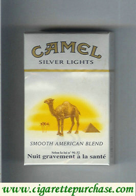 Discount Camel with sun Smooth American Blend Silver Lights cigarettes hard box