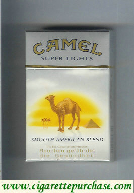 Discount Camel with sun Smooth American Blend Super Lights cigarettes hard box