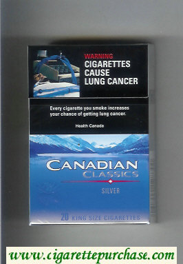Discount Canadian Classics Silver cigarettes king size