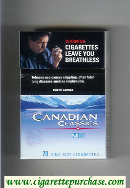 Discount Canadian Classics White cigarettes Extra Light king size