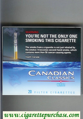 Canadian Classics White cigarettes extra light