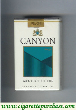 Discount Canyon Menthol Filter cigarettes