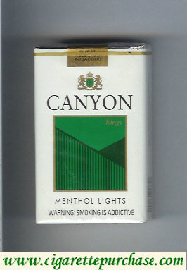 Discount Canyon Menthol Lights cigarettes