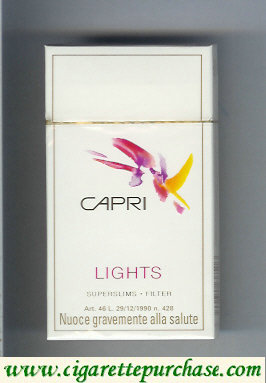 Discount Capri Lights Filter 100s cigarettes hard box