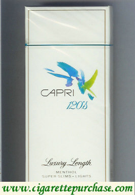 Discount Capri Menthol Lights 120s cigarettes hard box