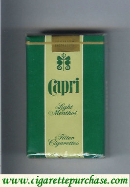 Discount Capri Menthol cigarettes soft box