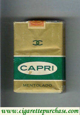 Discount Capri mexican version Mentolado cigarettes soft box