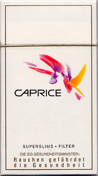 Discount Caprice Superslims cigarettes filter
