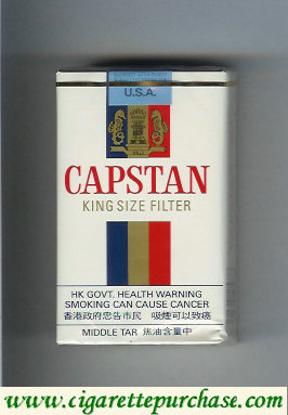 Capstan king size Filter cigarettes soft box
