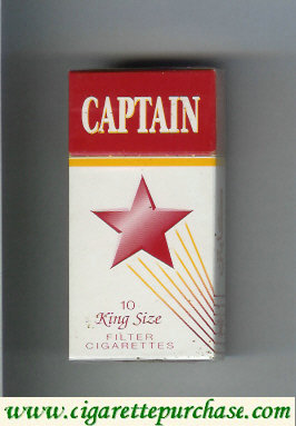 Captain 10 king cigarettes filter