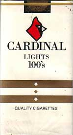 Cardinal Lights 100s cigarettes