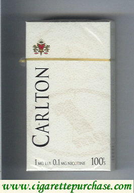Carlton 100s cigarettes 1mg tar hard box
