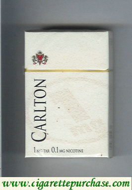 Discount Carlton 1mg tar cigarettes hard box
