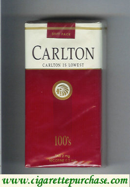 Discount Carlton Filter 100s ultra low tar cigarettes soft box