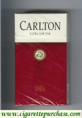 Discount Carlton Filter 100s ultra low tar cigarettes