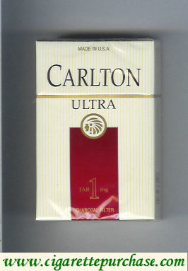 Discount Carlton Filter Ultra cigarettes Ultra Tar 1 mg hard box