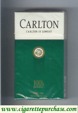 Discount Carlton Menthol 100's Filter cigarettes hard box