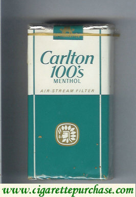 Discount Carlton Menthol 100's cigarettes air stream filter soft box
