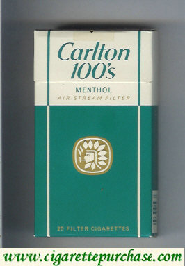 Discount Carlton Menthol 100s cigarettes air stream filter