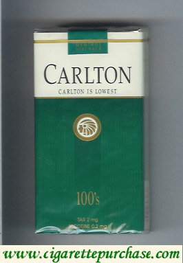 Discount Carlton Menthol 100's cigarettes lowest tar 2mg