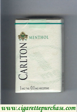Carlton Menthol cigarettes 1mg tar Filter