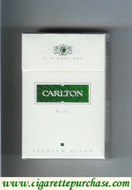 Discount Carlton Mint cigarettes Premium Blend