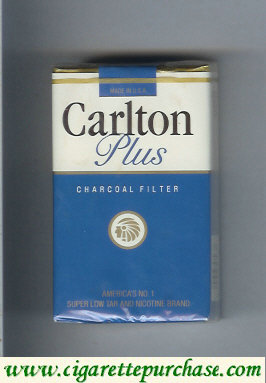 Discount Carlton Plus Charcoal Filter cigarettes