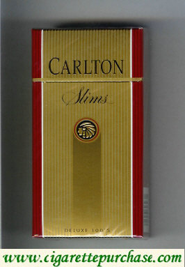 Discount Carlton Slims 100s cigarettes Filter gold
