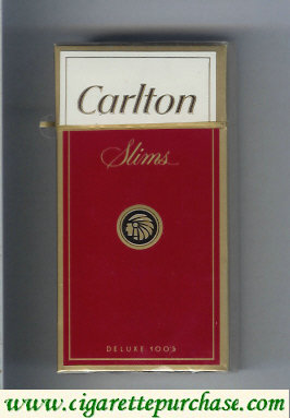 Discount Carlton Slims 100's cigarettes hard box red