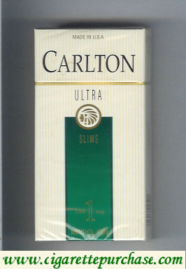 Discount Carlton Ultra Slims Menthol Tar 1 mg cigarettes