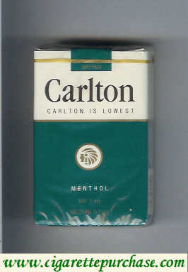 Carlton Menthol Filter cigarettes lowest tar 1mg