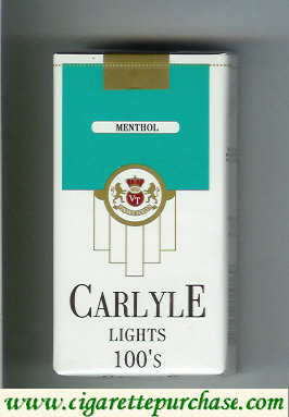 Discount Carlyle 100s Lights Menthol cigarettes