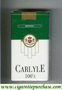 Discount Carlyle 100s Menthol cigarettes
