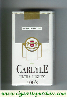 Discount Carlyle 100s Ultra Lights cigarettes