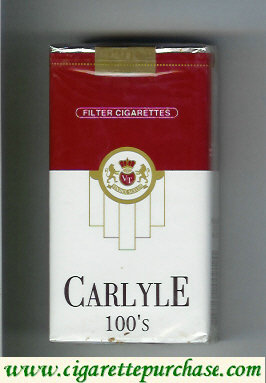 Discount Carlyle 100s filter cigarettes