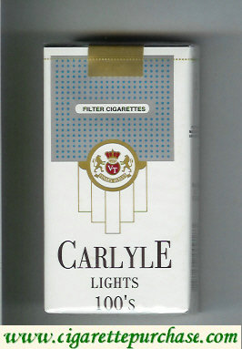 Discount Carlyle Lights 100s cigarettes