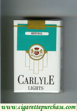 Discount Carlyle Lights Menthol cigarettes soft box