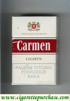 Carmen Lights American Blended cigarettes