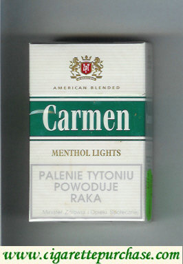 Carmen Menthol Lights cigarettes American Blended