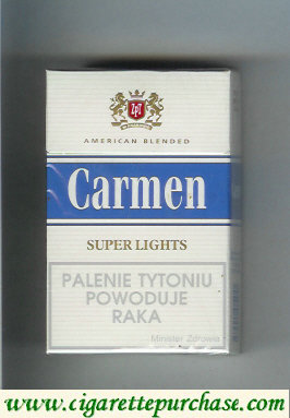 Carmen Super Lights cigarettes American Blended