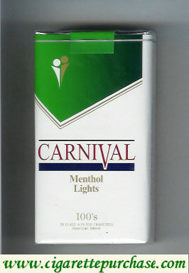 Discount Carnival 100s Menthol Lights cigarettes