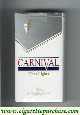 Discount Carnival 100s Ultra Lights cigarettes