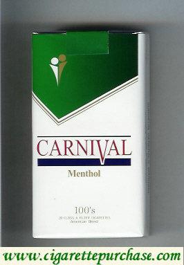 Discount Carnival Menthol 100s cigarettes